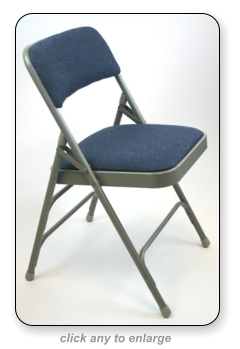 fabric padded metal folding chair