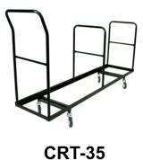35 capacity folding chair cart