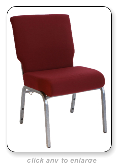 maroon worship chair